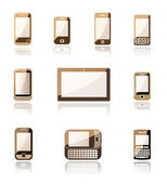 Mobile phone and tablet icons — Stock Vector