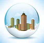 Christmas Sphere - City (Colorful) — Stock Vector