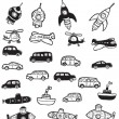 Stock Vector: Vehicles symbols