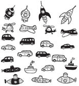 Vehicles symbols — Stock Vector