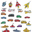 Vehicles symbols - Stock Vector