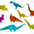 Origami dinosaurs — Stock Vector #26280965