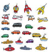 Símbolos de vehículos — Vector de stock