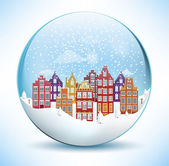 Christmas Sphere - City (Amsterdam) — Stock Vector