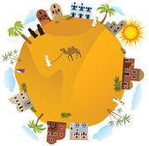 Around the World (Arabia) — Vector de stock