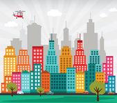 Kolorowe miasto — Wektor stockowy