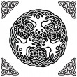 Stock Vector: Celtic ornament (yggdrasil)