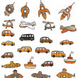 Vehicles symbols — Stockvektor #27725769