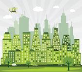 Green City — Stockvektor