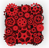 The machine (red) — Stock Vector