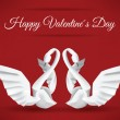 Swans Origami (Happy Valentine) — Vector de stock