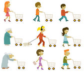 People group (shopping) — Stock Vector