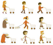 Gruppo di persone (lo shopping) — Vettoriale Stock