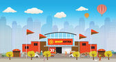 Illustrazione vettoriale di magazzino: — Vettoriale Stock