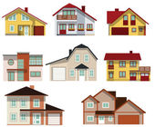 City houses — Stock Vector