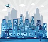 Cidade azul — Vetorial Stock