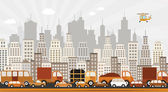 Traffic jam in the city — Stock Vector