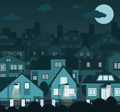 Cidade de noite — Vetorial Stock