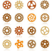 Simple vector tooth wheels — Stock Vector