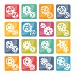 Vector cog icons — Stock Vector