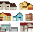 Townhouses — Stock Vector