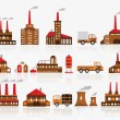 Factory icons — Stock Vector #32596631