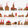 Factory icons — Stock Vector