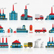 Factory icons — Stock Vector #32596957