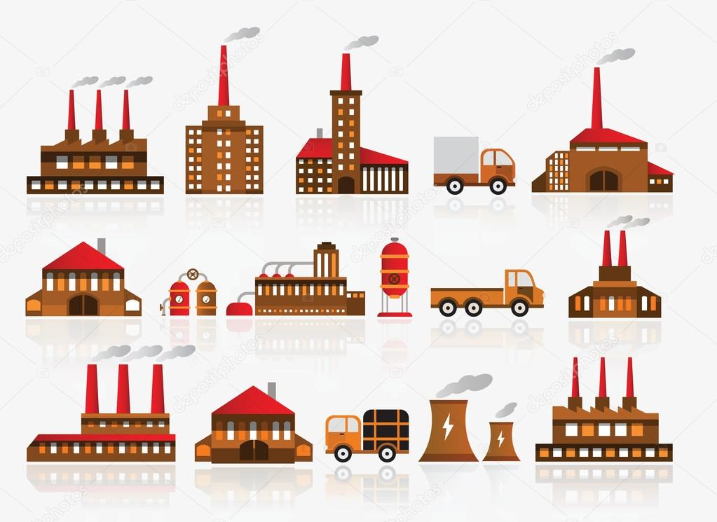 Factory icons — Stock Vector © jiri_kaderabek #32596631