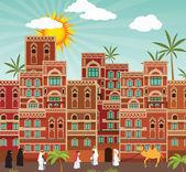 Oriental city — Stock Vector