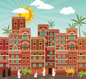 Ville arabe image vectorielle dedmazay 7601096 for Dessin ville orientale