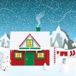 Santas house — Stock Vector #36164493