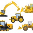 Heavy machinery — Stock Vector