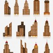 Skyscraper icons — Stock Vector