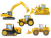 Heavy machinery — Stock Vector