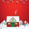 Santas house — Stock Vector