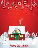 Santas house — Stock Vector