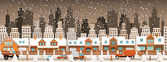 City in winter (Christmas) — Stock vektor