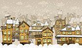 City in the winter days — Stock Vector