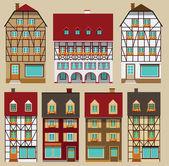 European city houses — Stock Vector
