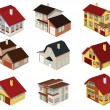 City houses in perspective — Stock Vector #42337395