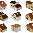 City houses in perspective — Stock Vector