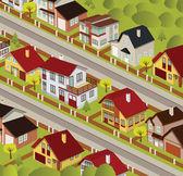City in perspective — Stock Vector