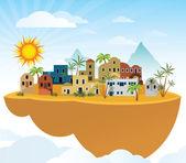 Flying island (Orient) — Vetorial Stock