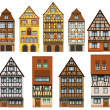Historical European houses — Stock Vector