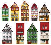 Historical European houses — Stock Vector
