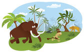 World of stone age — Stock Vector