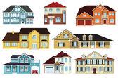 City houses — Stock Vector