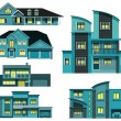 City houses (night) — Stock Vector #46654623