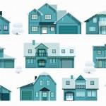 City houses (night) — Stock Vector #46654629